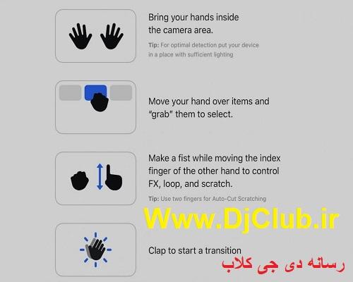 سیستم حرکتی دست djay Pro AI الگوریدیم